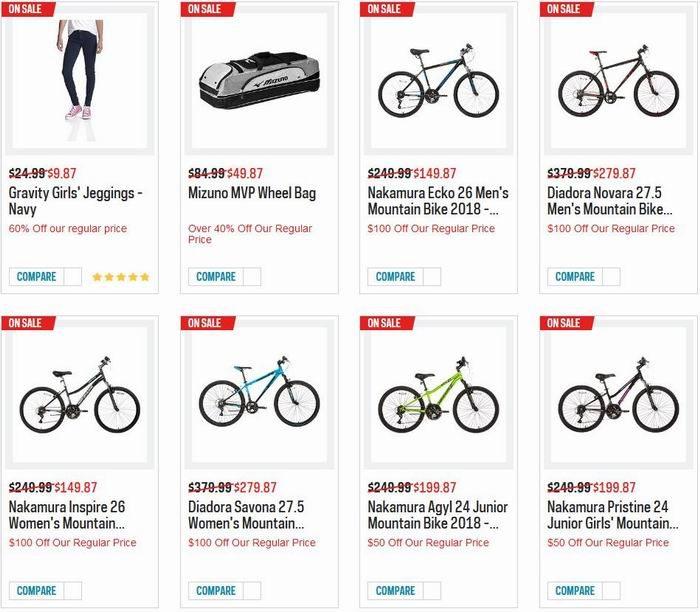 精选 Nike、New Balance、Columbia、Saucony 等品牌运动鞋、运动服饰、自行车、运动器材等4折起!全场包邮!