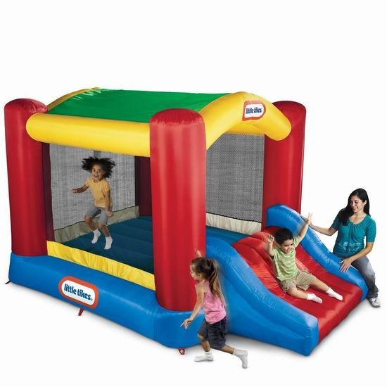 逆季清仓!历史最低价!Little Tikes 小泰克 Shady Jump n Slide 大型一体式儿童充气蹦床+滑梯组合 227.98加元包邮!