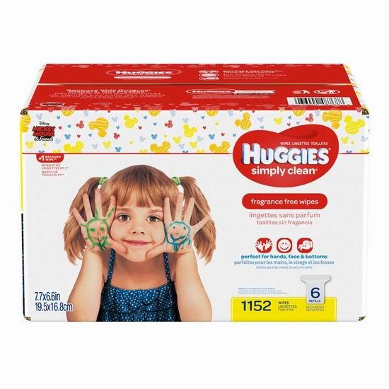 Huggies 好奇 Simply Clean 无香 婴幼儿湿巾纸(1152张) 18.97加元!