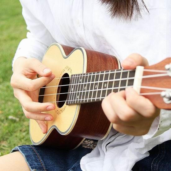 历史新低!Mugig Soprano 23寸夏威夷小吉他/尤克里里5.6折 38.89加元包邮!