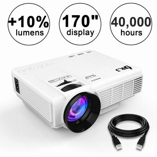 升级版 THZY DR.J 1800流明 1080P 家庭影院投影仪 75.64加元限量特卖并包邮!