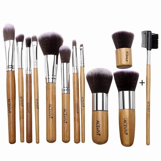历史新低!ACEVIVI 专业化妆刷12件套3.3折 9.99加元清仓!