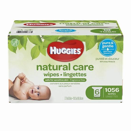 Huggies 好奇 Natural Care 天然呵护 无香型 婴儿湿巾纸(1056片) 18.97加元包邮!