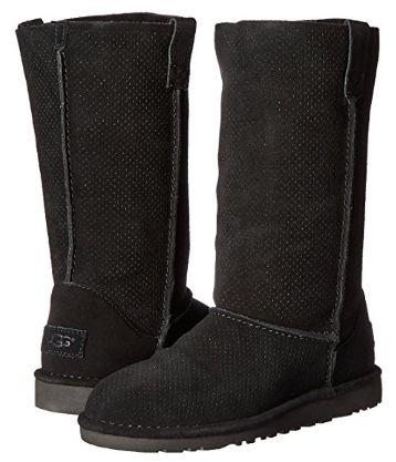 白菜价!UGG Classic Unlined Tall 女式黑色长筒雪地靴(5码)2.8折 53.98加元包邮!