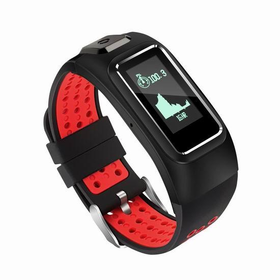 历史新低!Diggro DB-10 安卓蓝牙 心率监测 GPS导航 智能手表1.1折 9.99加元清仓!3色可选!