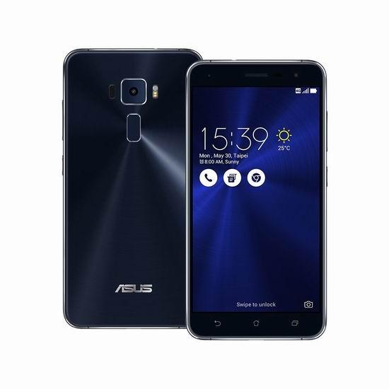 历史最低价!Asus 华硕 ZenFone 3 灵智 ZE520KL 32GB 5.2英寸 双卡双待 解锁版智能手机3.7折 209.98加元包邮!