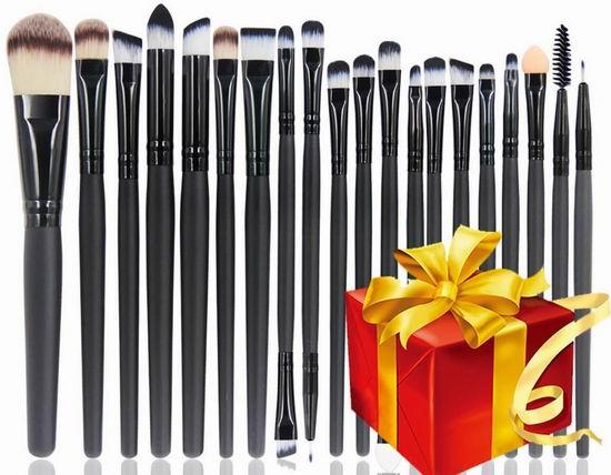 历史新低!BEAKEY 专业化妆刷20件套5.6折 10.99加元!另送神秘小礼物!