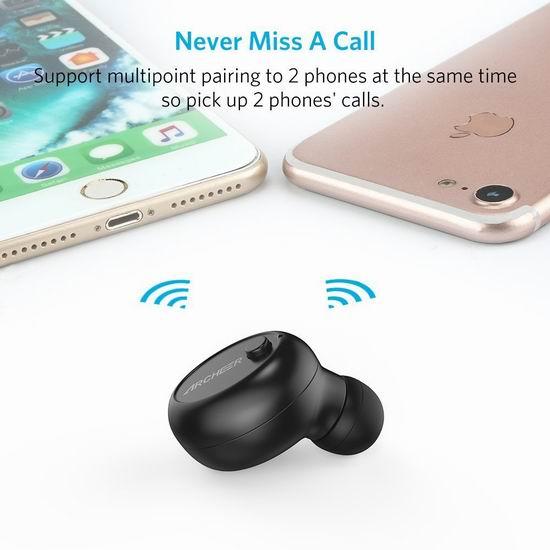 Archeer V4.1 迷你无线蓝牙耳机3.1折 8.99加元清仓!