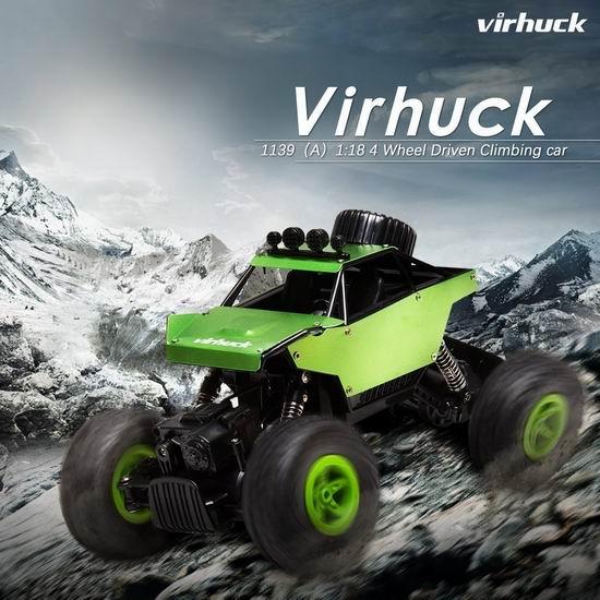 白菜价!历史新低!Virhuck 1139 (A) 1/18 4WD 遥控越野车2.7折 15.99加元清仓!