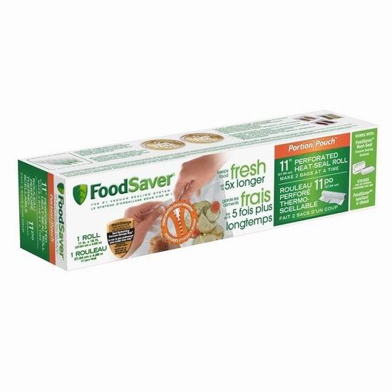 历史新低!FoodSaver Portion 真空食物塑封保鲜机 配套塑封膜4.1折 7加元!
