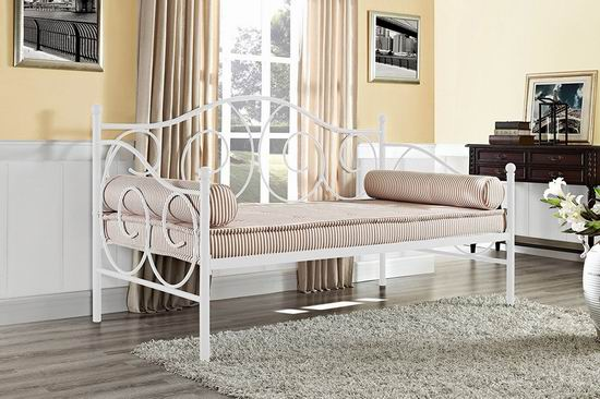 历史新低!DHP Victoria Twin 两用白色金属沙发床 139.99加元包邮!