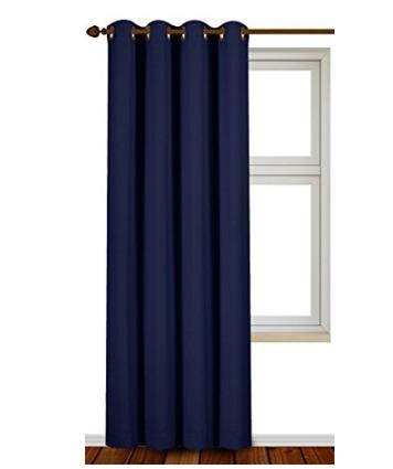 白菜价!Utopia Bedding 52x84英寸 阻光降噪窗帘(单片)1.7折 12.99-13.99加元!2色可选!