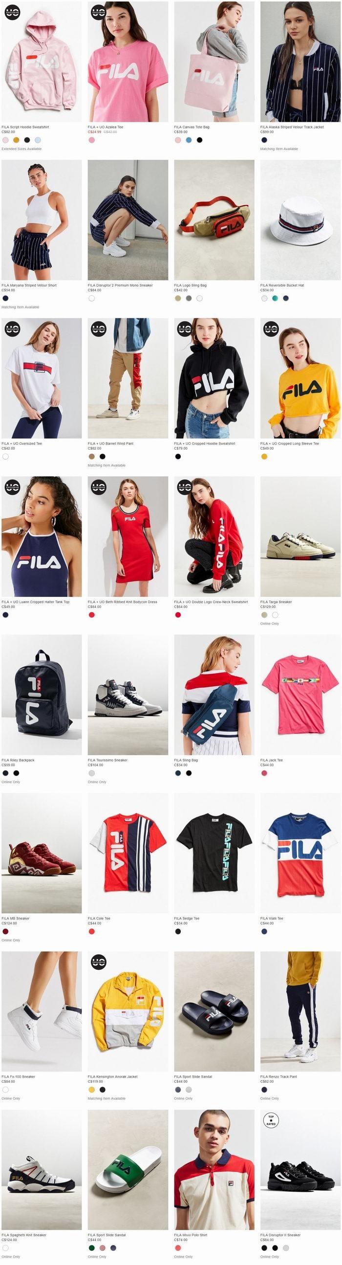 火上天了!FILA X Sanrio 、 FILA X UO合作新款美爆了  卫衣、卫裤、运动鞋 8.7折优惠!