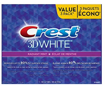 Crest 3D White美白牙膏 3件套 5.59加元特卖!