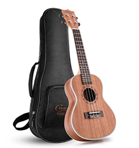 Hricane Concert Ukulele 23英寸专业夏威夷小吉他/尤克里里 63.99加元限量特卖,原价 189.99加元,包邮