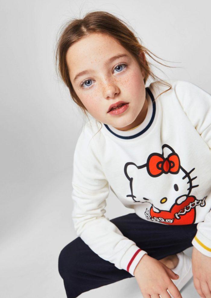 Mango精选儿童服饰 6.6折优惠,速抢高颜值Hello Kitty卫衣!