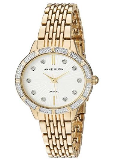 Anne Klein AK/2782SVGB女款施华洛世奇水晶腕表 68.08加元,原价 122.5加元,包邮