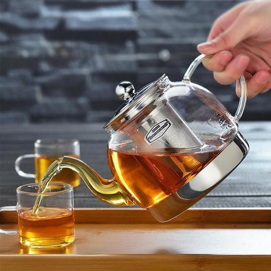 IAN 1200ml 中式玻璃茶壶 26.99加元特卖!