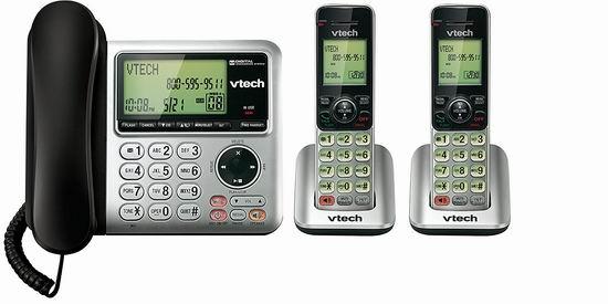 历史新低!VTech 伟易达 CS6949-2 DECT 6.0 一拖二 家庭无绳电话6.7折 59.99加元包邮!