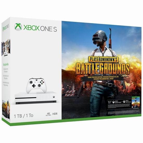 历史新低!Xbox One S 1TB 家庭娱乐游戏机+《绝地求生》套装 315.89加元包邮!销量冠军!