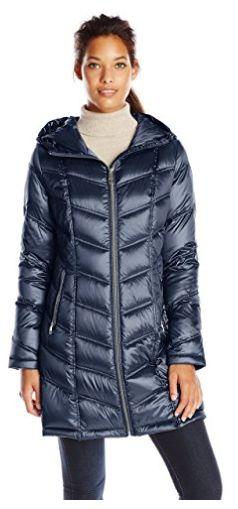 手慢无!Calvin Klein Chevron 女款中长修身羽绒服(XXS码)1.3折 47.8加元包邮!