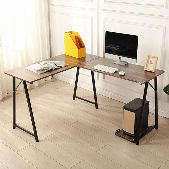 白菜价!soges 701t L型时尚电脑桌3 1折 59加元包邮! 加拿大打折网