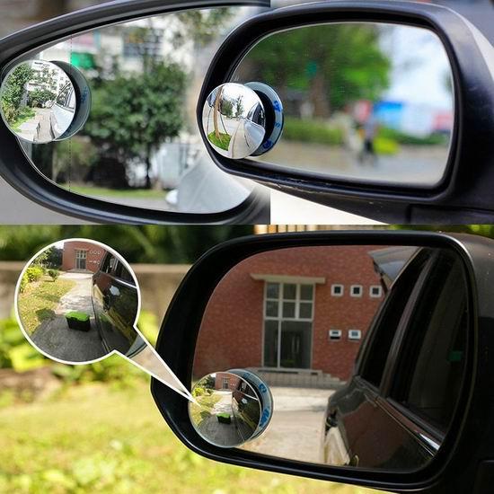 历史新低!Eogro 升级版 汽车后视镜 360度小圆镜/盲点镜(1对) 8.99加元!