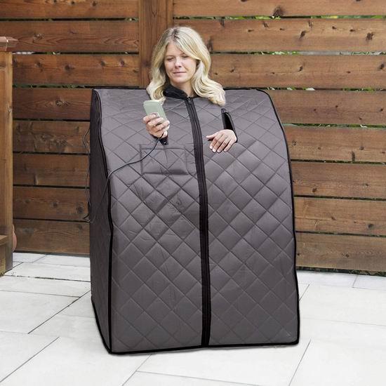 销量冠军!Radiant Saunas Rejuvenator 便携式远红外 汗蒸房/桑拿浴箱 309加元包邮!