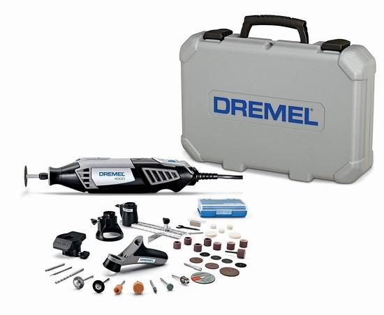 历史新低!Dremel 琢美 4000-4/34 变速电磨工具套装5.8折 99.99加元包邮!