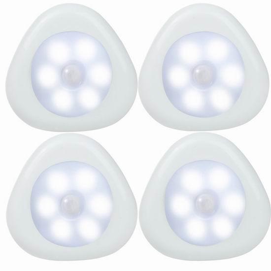 白菜价!历史新低!LUXON LED室内运动感应灯4件套3.8折 10.99加元清仓!