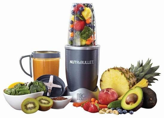 黑五专享:历史新低!NutriBullet 600 Superfood 营养榨汁/搅拌机8件套5.4折 48.88加元包邮!