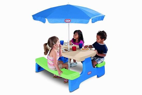 历史新低!Little Tikes 小泰克 Easy Store 儿童餐桌/游戏桌套装5.1折 59.97加元包邮!会员专享!