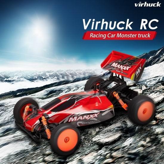 白菜价!Virhuck 1/10 2WD RC 超强动力 大型遥控越野赛车1.2折 19.99加元包邮!