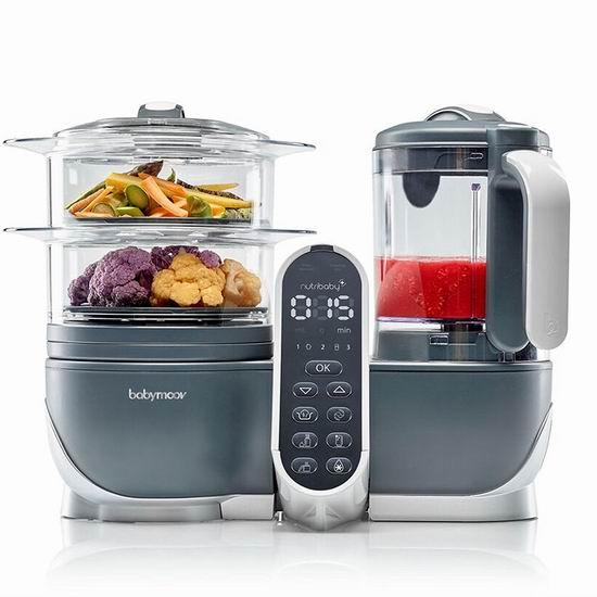历史新低!2018新款 Babymoov Duo 六合一多功能 宝宝辅食料理机/蒸煮器6折 131.97加元包邮!