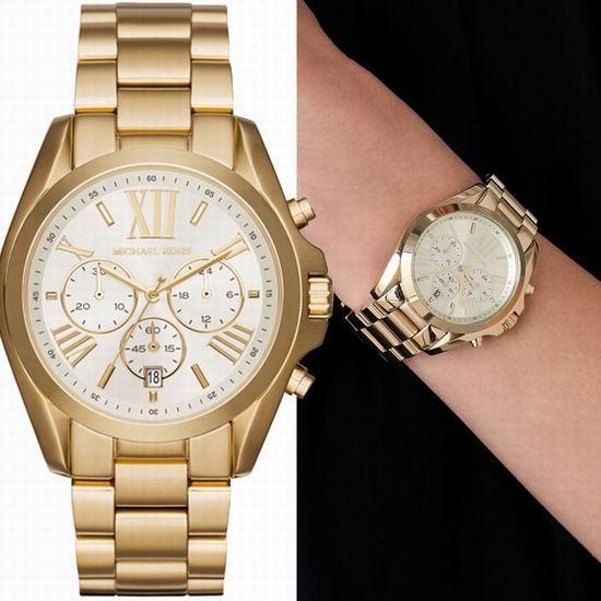 历史新低!Michael Kors MK6266 三眼计时 金色时尚腕表/手表4.4折 144.34加元包邮!