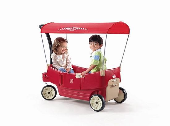 历史新低!Step2 All Around 带顶棚 双人四轮拖车3.3折 68.89加元清仓并包邮!