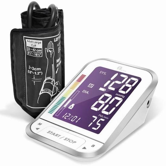 历史最低价!1byone 上臂式电子数字血压计5.7折 27.99加元!