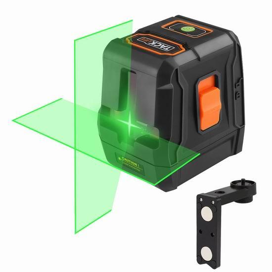 历史新低!Tacklife SC-L07G 98英尺 自动调平 交叉线 激光水平仪2.1折 62.97加元包邮!