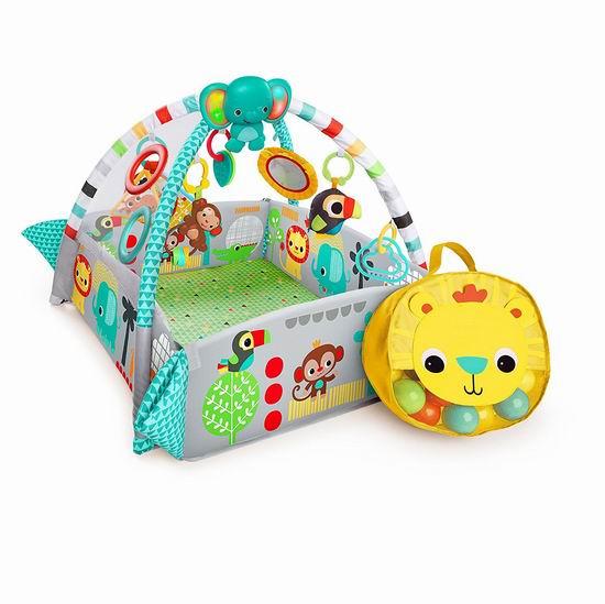 历史新低!Bright Starts 5合一 婴幼儿豪华健力架+游戏垫+35彩球套装5折 59.97加元包邮!2色可选!
