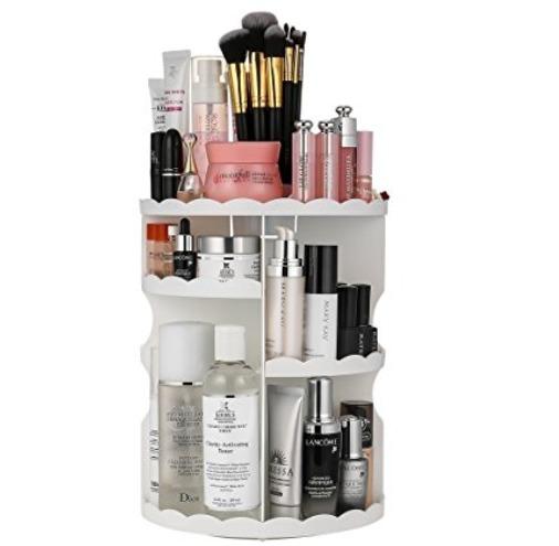 LIFU 360度旋转 化妆品收纳盒 25.49加元限量特卖!2色可选!