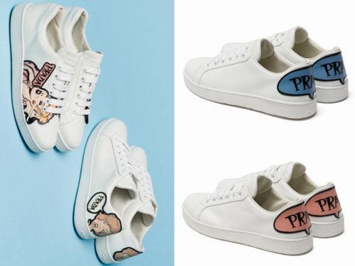 精选 Prada漫画白球鞋、超美经典尖头小细跟鞋、盒子包 7.7折 236加元起特卖!