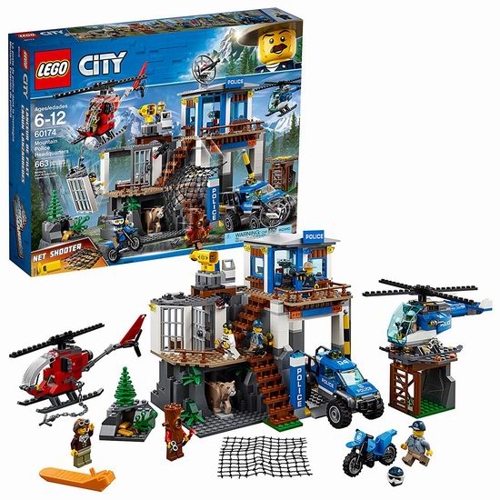 LEGO 乐高 60174 城市系列 山地特警总部(663pcs) 6.3折 69加元包邮!