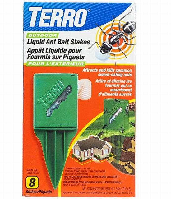 TERRO T1812 室外液体灭蚂蚁棒 8个装3.7折 9.99加元!