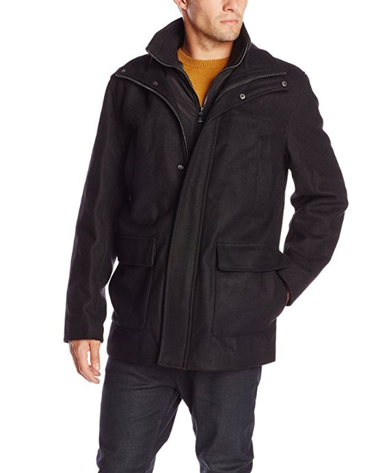 Calvin Klein Walking 男士羊毛混纺外套 44.33加元(L码),原价 178.31加元,包邮