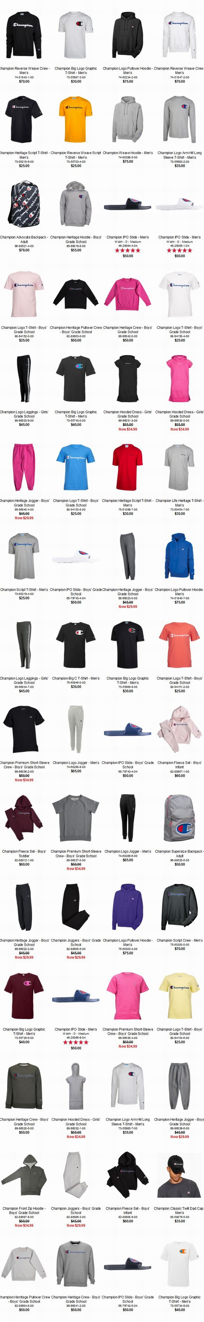 d0e57ae2 Champion T Shirts Foot Locker