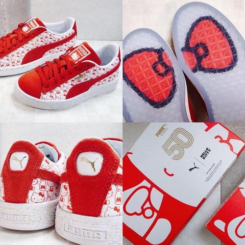 补货了!PUMA X HELLO KITTY联名超萌Suede运动鞋65美元起特卖!