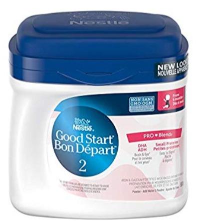 NESTLÉ GOOD START 2 含DHA&ARA益生菌配方奶粉 27.54加元(660 g )+包邮!