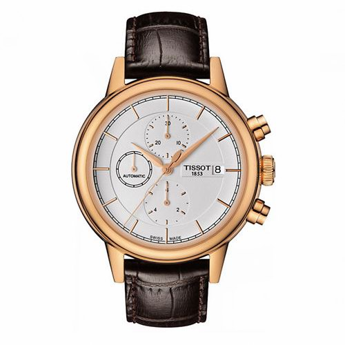 Tissot 天梭 T0854273601100 Carson 卡森系列 自动机械 三眼计时 男士腕表/手表6.4折 669.79加元包邮!