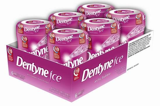历史新低!Dentyne Ice 木糖醇口香糖(6x60粒)4.3折 10.29加元!两款可选!