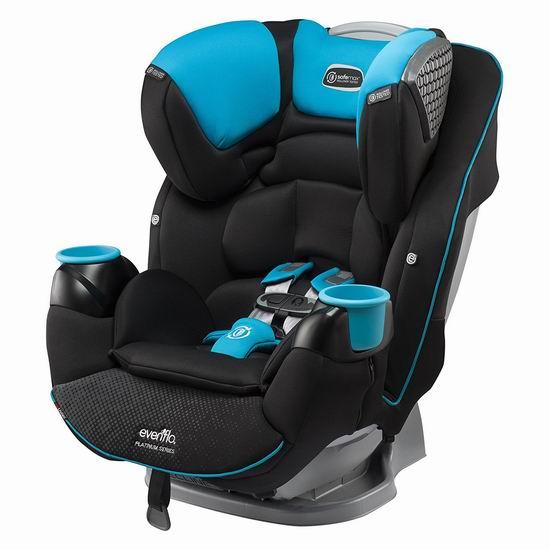 历史最低价!Evenflo Platinum SafeMax 蓝色成长型 儿童汽车安全座椅6.2折 249.99加元包邮!